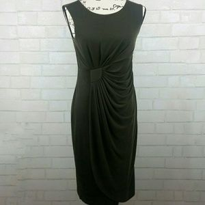 Sleeveless Rouched Form Fitted Dress B33